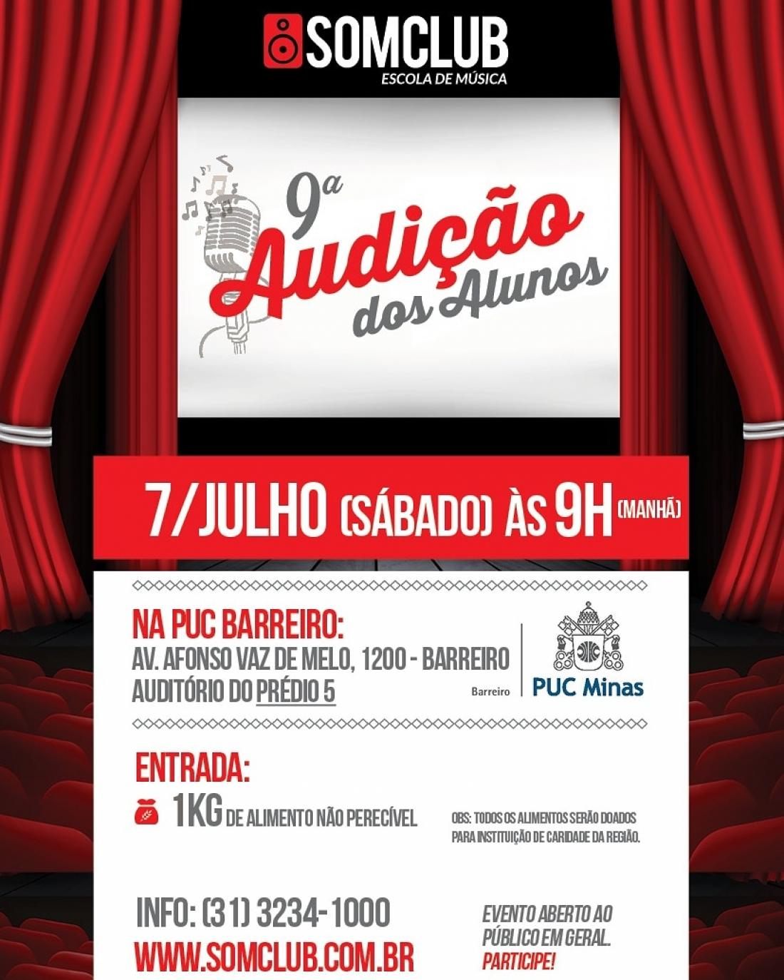 07/07/2018 – 9ª Audição dos Alunos Somclub na PUC Barreiro