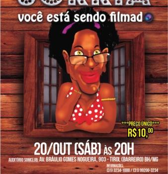 Neste sábado 20/10/18 tem Teatro na Somclub – Comédia Sorria você está sendo filmado