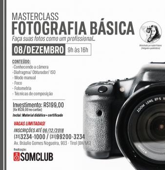 Masterclass de Fotografia Básica na Somclub