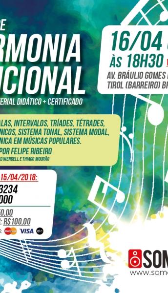 16/04/2018 – Curso de Harmonia Funcional